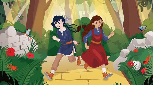 Asbjørn og Astrid løper
